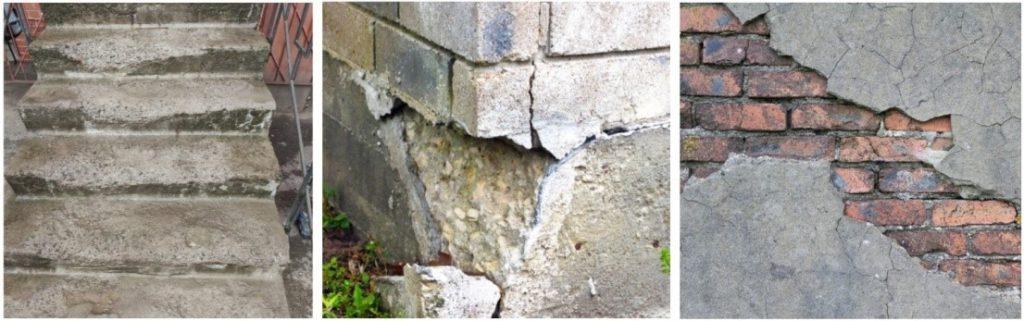 Ремонт и восстановление бетонных поверхностей тиксотропным ремонтным составом